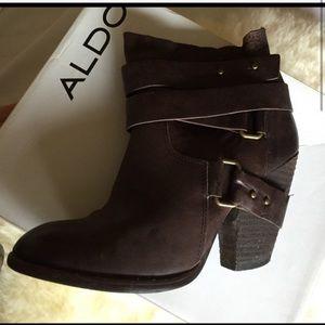 🔥💞 Aldo Leather rich brown vtg rare boots new